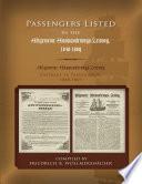 Passengers Listed in the Allgemeine Auswanderungs-Zeitung, 1848-1869