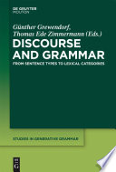 Discourse and Grammar