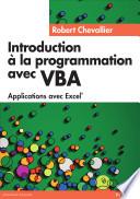 illustration du livre Introduction à la programmation avec VBA
