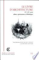 Le livre d architecture  XVe XXe si  cle