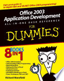Office 2003 Application Development All in One Desk Reference For Dummies