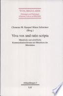 Viva vox und ratio scripta