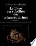 Le Livre des subtilit  s des cr  atures divines