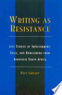 Writing as Resistance
