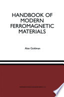 Handbook Of Modern Ferromagnetic Materials book