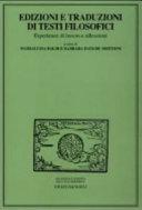 Edizioni e traduzioni di testi filosofici