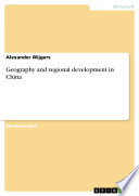 Geography and regional development in China