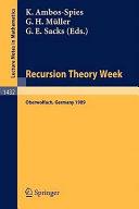 Recursion Theory Week Book PDF