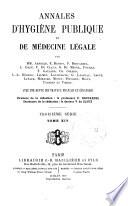 ANNALES D'HYGIENE PUBLIQUE ET DE MEDECINE LEGALE
