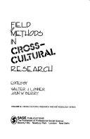 Field Methods In Cross Cultural Research