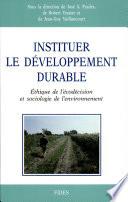 Instituer le développement durable