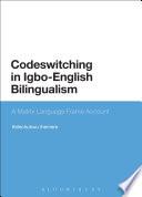 Codeswitching In Igbo English Bilingualism