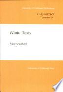 Wintu Texts