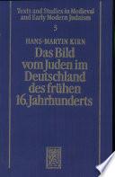 Das Bild vom Juden im Deutschland des frühen 16. Jahrhunderts
