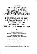 Actes Du     Congr  s de L Association Internationale de Litt  rature Compar  e