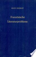 Franz  sische Literaturprobleme