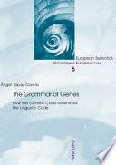 The Grammar of Genes