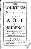 The Courtiers Manual Oracle Or The Art of Prudence