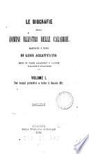 Le biografie degli uomini illustri delle Calabrie  raccolte a cura di L  Accattatis