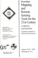 Proceedings, mapping and remote sensing tools for the 21st century