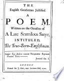 The English Gentleman Justified