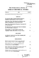 The International Journal of African Historical Studies
