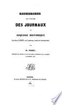 Recherches sur l'origine des journaux et esquisse historique sur Jean Loret de Carentan, poete et journaliste