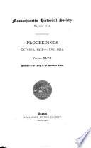 Proceedings of the Massachusetts Historical Society Book PDF