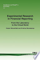 Experimental Research in Financial Reporting