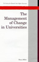 The Management of Change in Universities