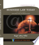 Business Law Today  Comprehensive  Text and Cases  Diverse  Ethical  Online  and Global Environment
