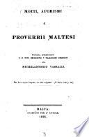 Motti, aforismi e proverbii Maltesi