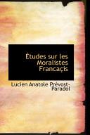 Tudes Sur Les Moralistes Francais
