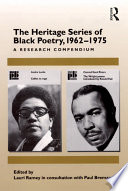 The Heritage Series Of Black Poetry 1962 1975