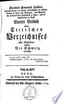 ... Versuch eines critischen Verzeichnisses aller Schriften, welche die Schweiz betreffen