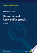 Kuhlmann/Ahnis, Konzern- und Umwandlungsrecht