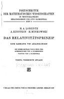 Das Relativit  tsprinzip