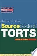 Sourcebook On Tort Law 2 E