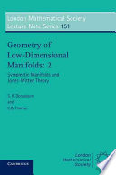 Geometry of Low dimensional Manifolds