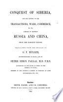 The Conquest Of Siberia : ...