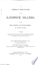 A Residence of Twenty-one Years in the Sandwich Islands