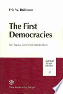 The First Democracies Book PDF