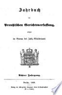 Jahrbuch der preussischen Gerichtsverfassung