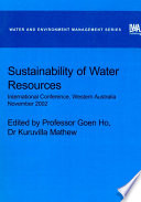 Sustainability Of Water Resources book