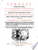 Verbael gehouden door de Heeren H. van Beverningk, W. Nieupoort, J. van de Perre, en A.P. Jongestal, als gedeputeerden