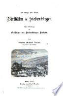 Der königl. freie Markt Birthälm in Siebenbürgen