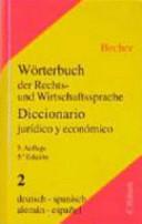 Diccionario jurídico y económico