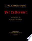 C F W  Walther s Original Der Lutheran Year 1  1844 45  The Doctrine of the Church