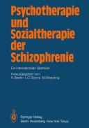 Psychotherapie und Sozialtherapie der Schizophrenie