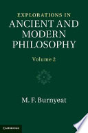 Explorations in Ancient and Modern Philosophy Up To 2000 One Of